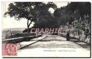 Old Postcard Neufchateau Route d & # 39Epinal The Crans