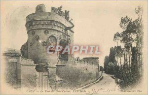 Old Postcard Caen The Tower of sixteenth Century weapons People