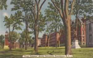 Front Campus - Brown University, Providence RI, Rhode Island - pm 1953 - Linen