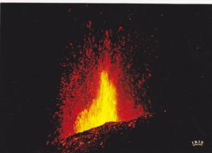REUNION , 1970s : Volcano Eruption November 1977