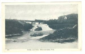 Bridge and Falls, River-du-Loup, Province of Quebec, Canada, 10-20s