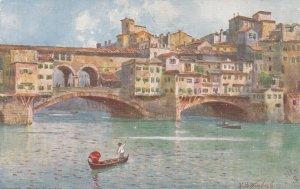 FIRENZE, Italy, 1900-10s; Ponte Vecchio ; TUCK 7989 ; Artist Wimbush