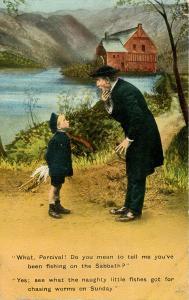 Humor - Fishing on the Sabbath (Parish Priest)