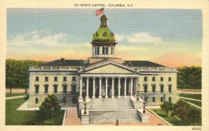 The State Capitol Building - Columbia SC, South Carolina - Linen