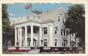 Lafayette Indiana State Soldiers Home-Commandant's Residence~1917 Postcard