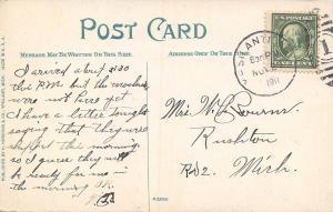 Ypsilanti Michigan~Canoes & Cabins @ Peninsular Grove~1911 Postcard