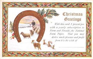 Publications Advertising Old Vintage Antique Post Card Natioal Farm Paper Unused