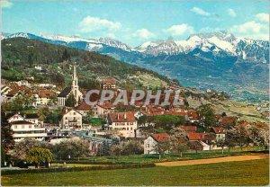 Postcard Modern Chexbres Dent de Jaman and Rochers de Naye