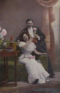 Romantic Couple Drinking Champagne Curteich