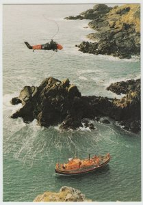 Shipping; Lizard Cadgwith Lifeboat Duke Of Cornwall & Wessex Helicopter PPC