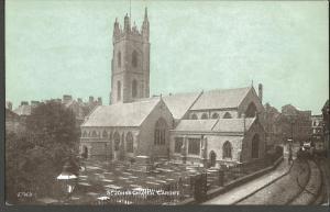 Antique Postcard c1905 St Johns Church CARDIFF E.T.W.D Dainty Series