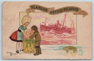 Postcard France Artist Signed Gaston Marechaux Flandre Artois Picardie M16