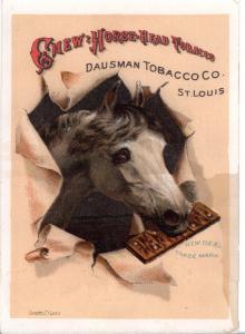 VICTORIAN TRADE CARD, CHEW & HORSE HEAD TOBACCO
