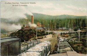 Crofton Smelter Crofton BC Vancouver Island Unused Hibben Postcard F89