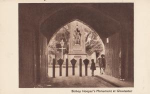 Children Playing at Bishops Hooper Monument Gloucester Old Postcard
