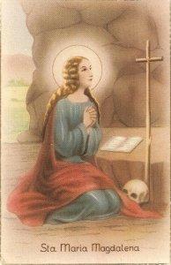 Santa Maria Magdalena Nice vintage Spanish relligious postcard