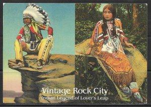 Tennessee, Rock City - Indian Legend Of Lover's Leap - [TN-053X]