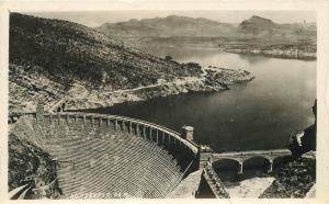 Arizona Roosevelt Dam Aerial View RPPC real photo postcard 6752
