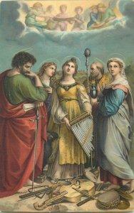 Religous Art Postcard St Cecilia Raphael Royal Gallery Dresden