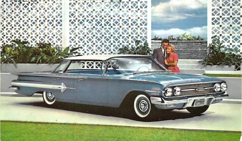 Baltimore MD Bernie's Road 1960 Chevrolet Impala Dealership Postcard