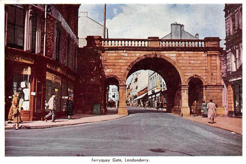Londonderry Ferryquay Gate Street Shops Bar