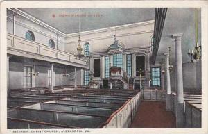 Virginia Alexandria Interior Christ Church