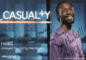 Tony Marshall as Noel BBC Casualty Hand Signed Cast Card Photo