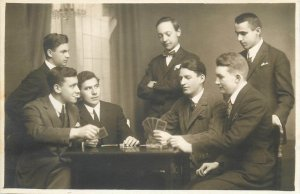 Studentika atelier Helios M Gebauer Brasov students playing cards poker gambling