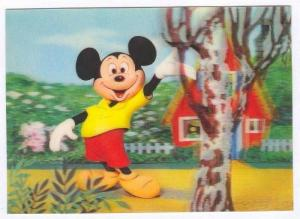 3D postcard, Mickey Mouse, 50-60s