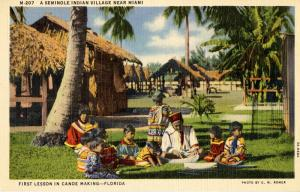 FL - Seminole Indians- First Lesson in Canoe Making
