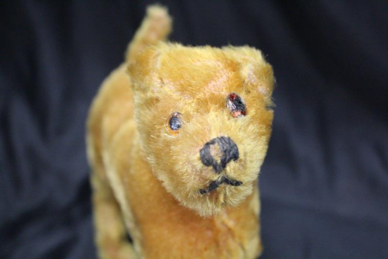 Antique Vintage Mohair Irish Terrier Gwen Steiff? Stuffed Toy Dog Missing Button
