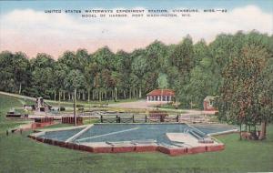 Uniterd States Waterways Experiment Station Model Of Harbor Port Washington W...