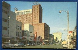 Heidelberg Hotel Capitol Street view cars Jackson MS Old Postcard