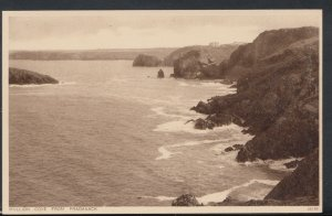 Cornwall Postcard - Mullion Cove From Pradanack     RS9320