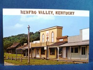 Postcard KY Renfro Valley Country Music Center Scene Along Old Main Street