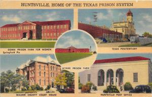 Huntsville Texas 1946 Postcard Wynne Prison Goree Women Prison Penitentiary