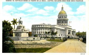 Cuba - Havana. Capitol Building & India Fountain