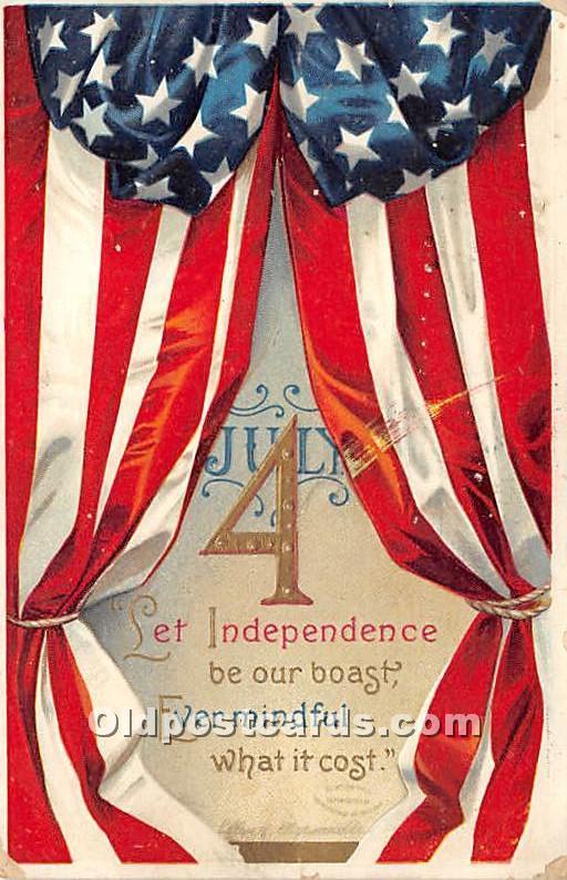 Artist Signed Ellen Clapsaddle 4th of July Post Card Publisher John Winsch, 1911