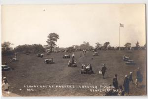 RPPC, Sunny Day at Parkers Lobster Pound Searsport ME