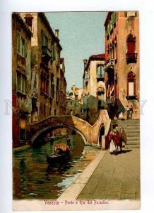 191141 ITALY VENEZIA Ponte Rio del Paradiso Vintage lithograph