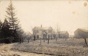 F64/ North Royalton Ohio RPPC Postcard c1910 Mel Edgarton Home Leiter