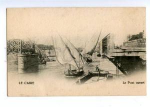 147232 EGYPT CAIRO Bridge Vintage undivided back postcard