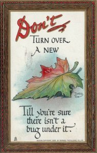 TUCK #165; DWIG, PU-1910; Don't turn over a new 'Leaf' ...