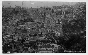 RPPC Looking From Peak HONG KONG China Aerial View ca 1910s Vintage Postcard