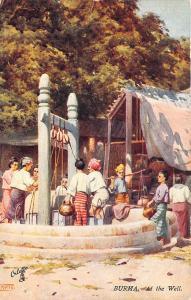 Burma At The Well Raphael Tuck #7867 Postcard