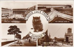 Scotland Dundee Riverside Drive City Square Tay Bridge Nethergate & old Steep...