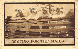 Waiting for the Mails Double Meaning 1911 writing on front