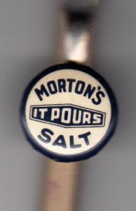 Morton Salt Pocket Pencil Clip