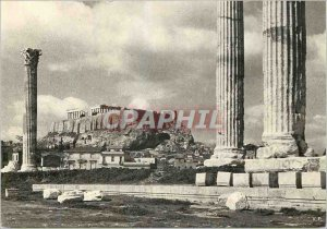 Postcard Modern View of the Acropolis from the Temple of Zeus