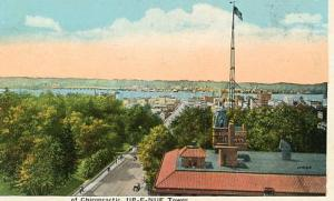 IA - Davenport - Business Section Looking South From Palmer School of Chiropr...